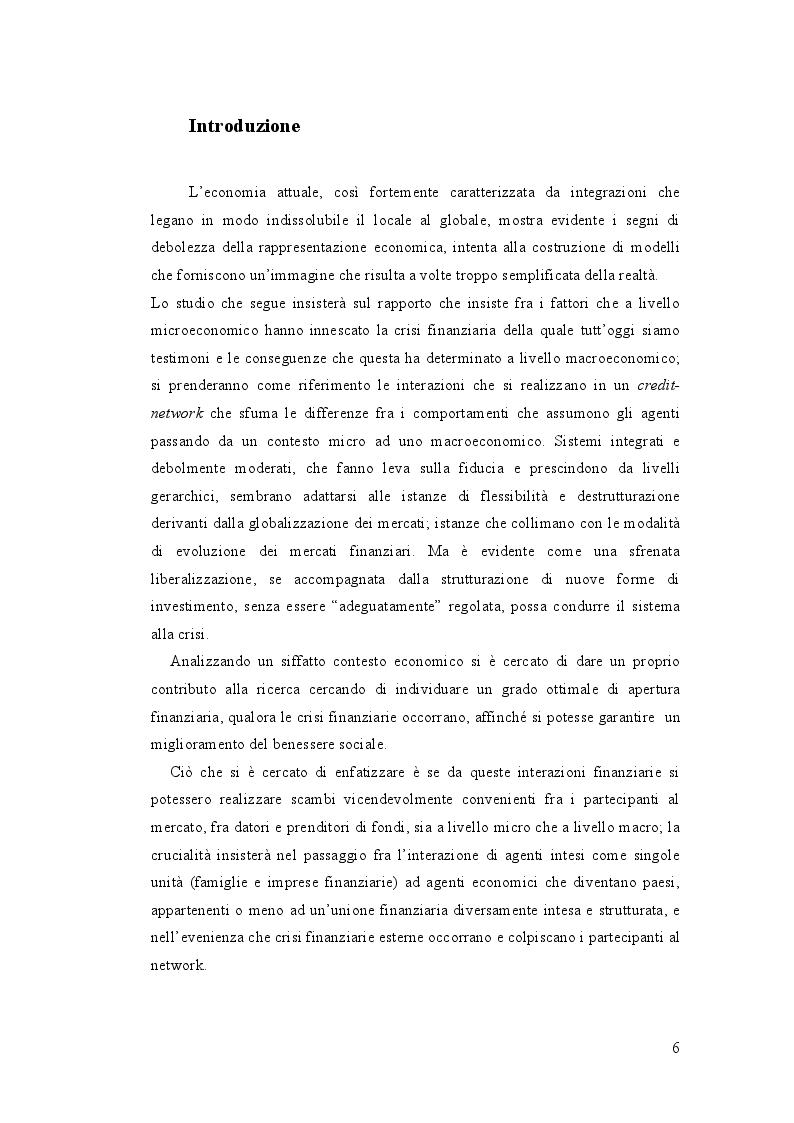 Sull'Integrazione Ottimale dei Mercati Finanziari - Tesi di Laurea