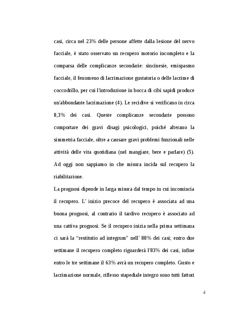 Anteprima della tesi: Il ruolo della riabilitazione nella paralisi di Bell: revisione sistematica, Pagina 5