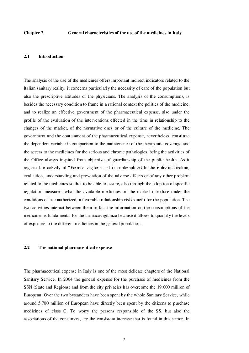Estratto dalla tesi: The liberalization of the bench medicines