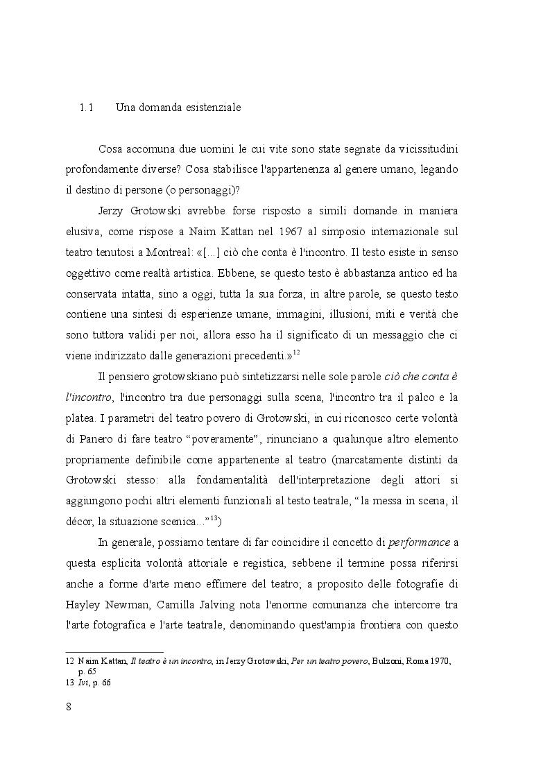 Estratto dalla tesi: Fuori dalla società - Il teatro esistenziale di Antonello Panero