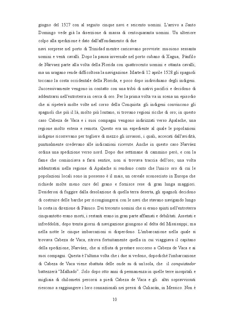 Estratto dalla tesi: Álvar Núñez Cabeza de Vaca: il conquistatore-conquistato tra storia e finzione