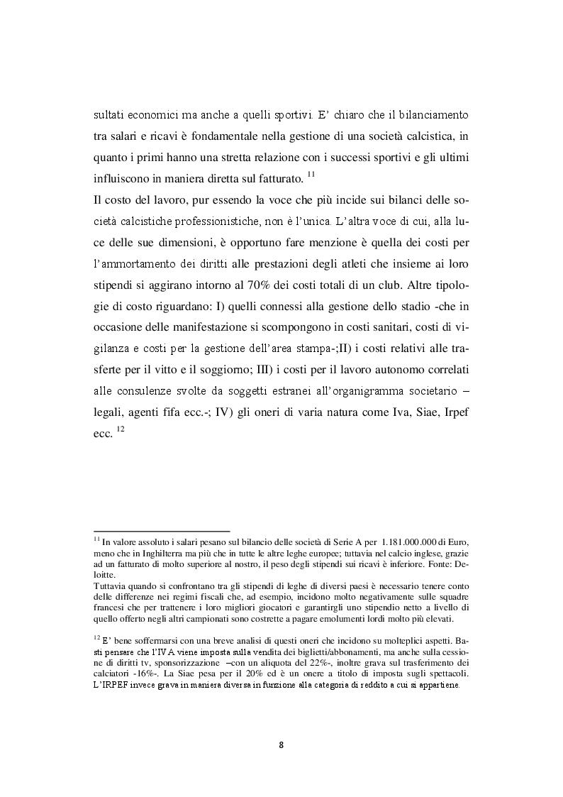 Estratto dalla tesi: Il Financial Fair Play: implicazioni e prospettive del business calcistico europeo