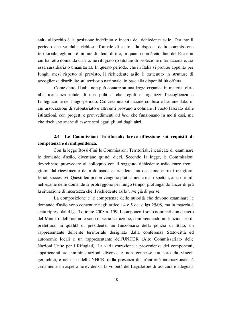 Estratto dalla tesi: I Richiedenti Asilo: uno studio sul centro di accoglienza diffuso di Biella
