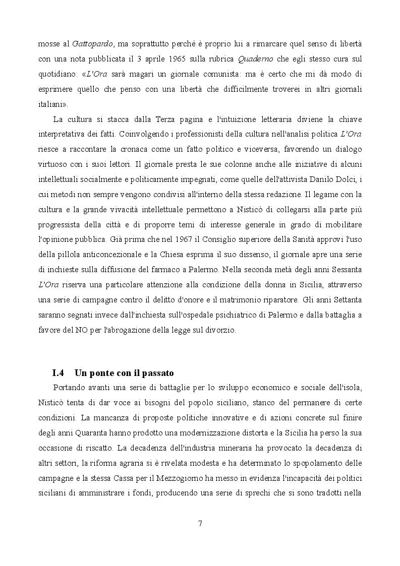 Estratto dalla tesi: ''L'Ora'' di Nisticò