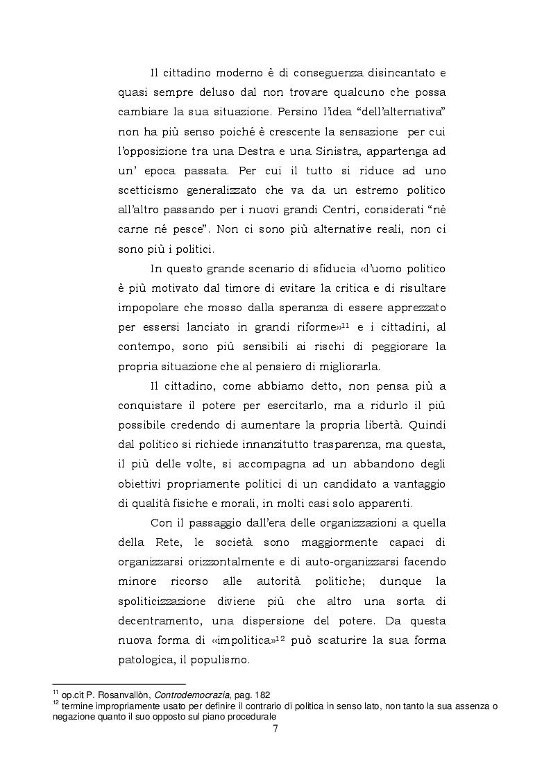 Estratto dalla tesi: La politica dei movimenti ed il potere orizzontale della cloud communication: il caso Grillo