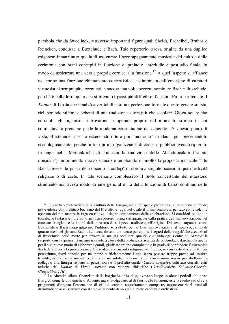 Estratto dalla tesi: La letteratura per organo e orchestra tra Ottocento e Novecento