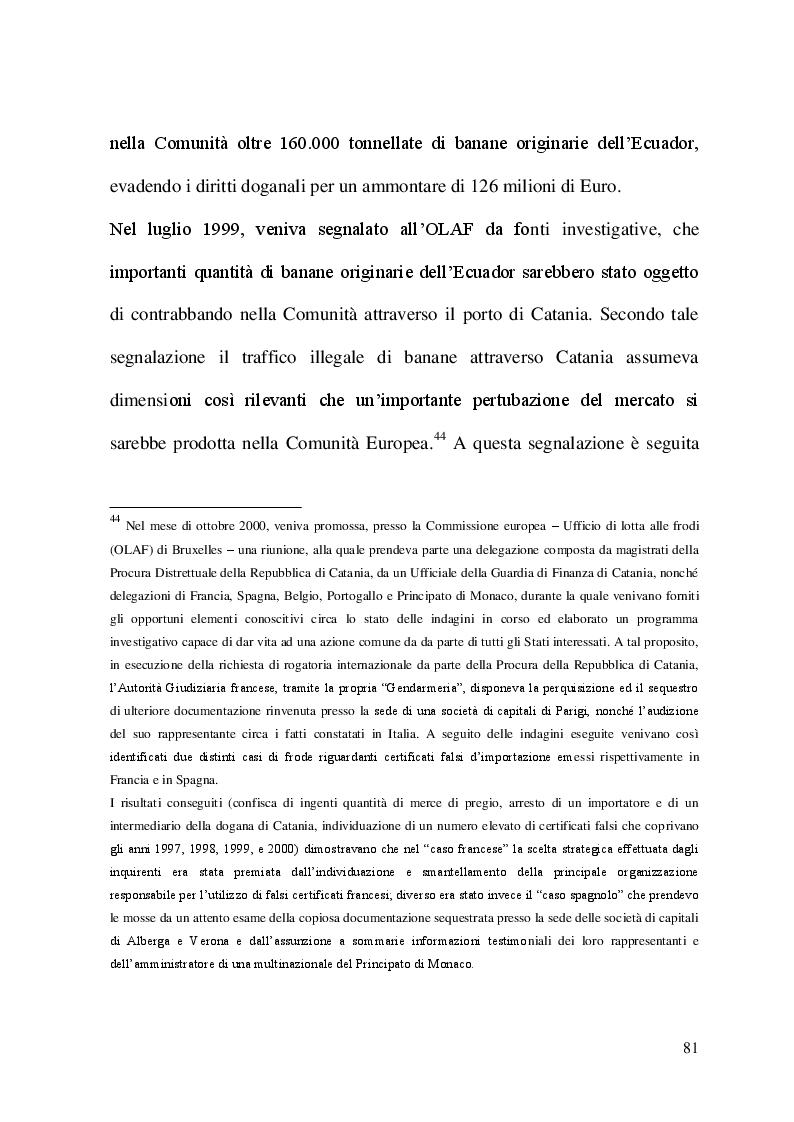 Estratto dalla tesi: L'OLAF (Ufficio europeo per la lotta antifrode) e le frodi agroalimentari