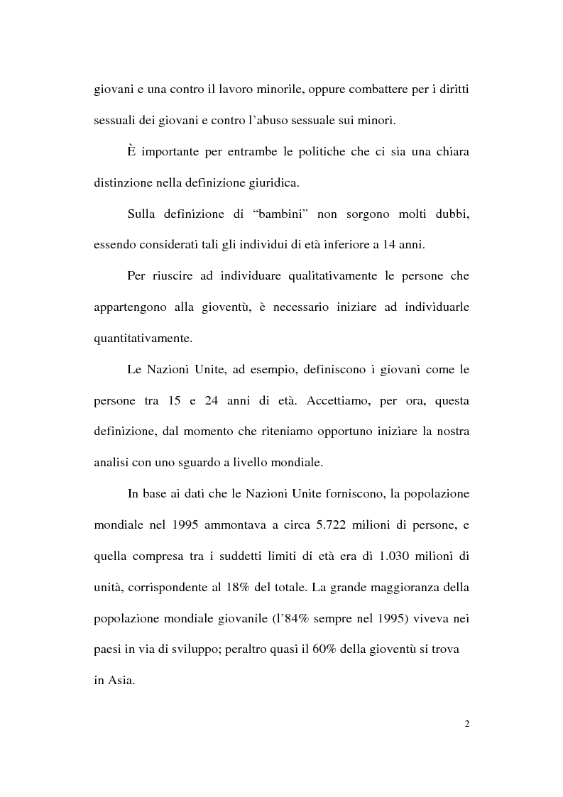 Anteprima della tesi: Genesi e prospettive della politica europea per la gioventù, Pagina 2