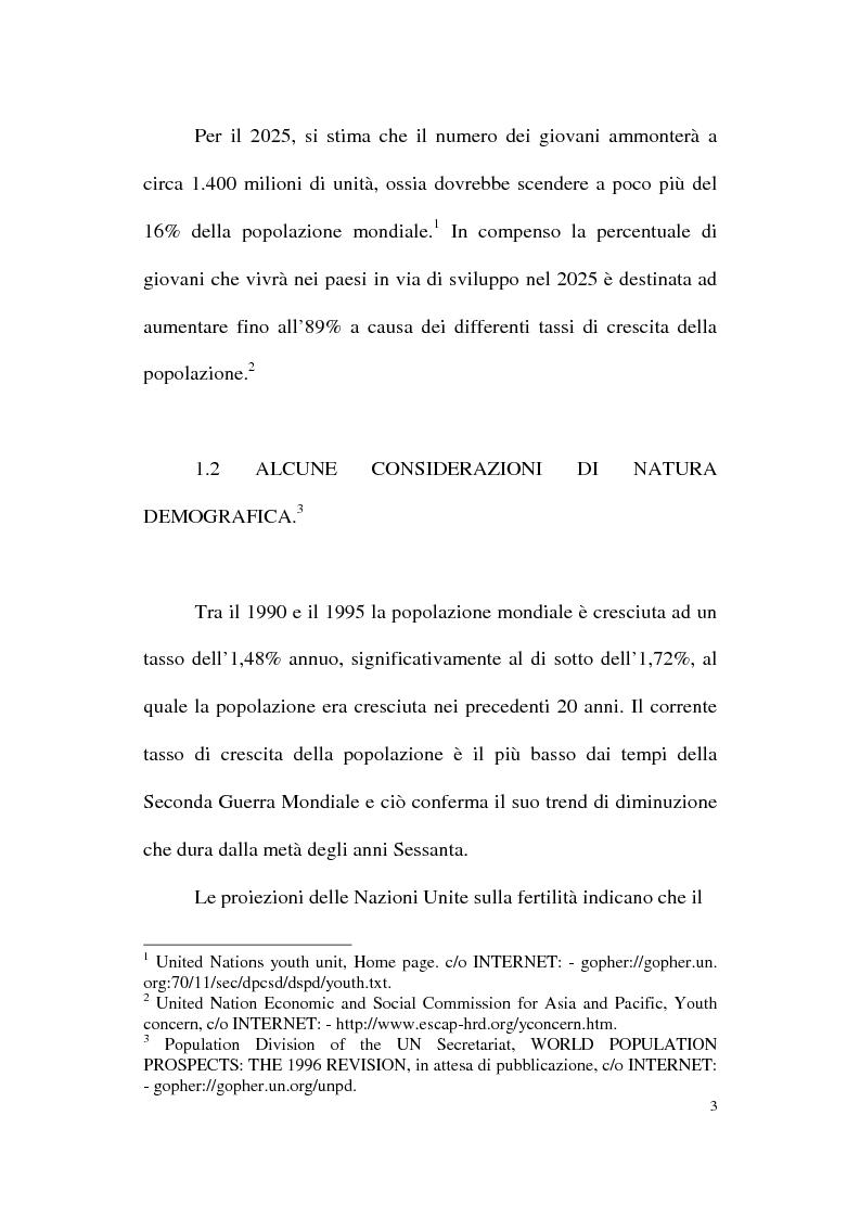 Anteprima della tesi: Genesi e prospettive della politica europea per la gioventù, Pagina 3