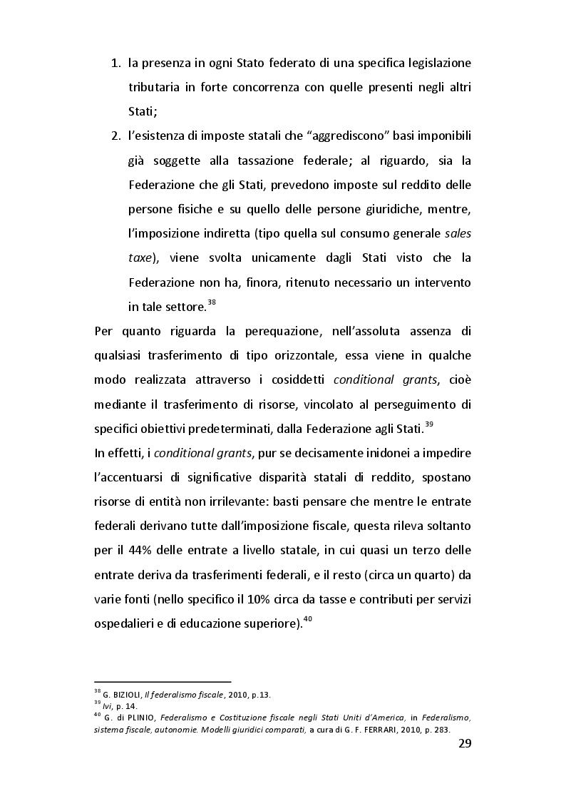 Estratto dalla tesi: Modelli di federalismo fiscale a confronto
