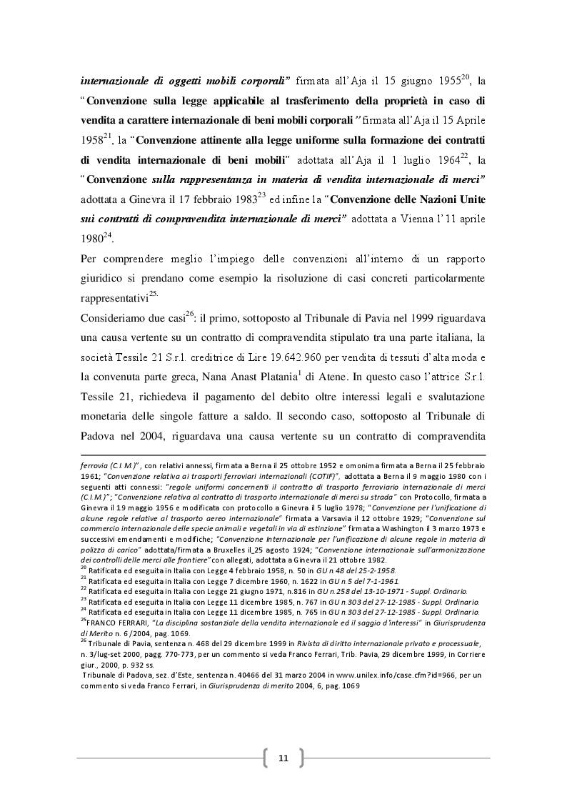 Estratto dalla tesi: La disciplina internazionale del contratto di compravendita dei beni
