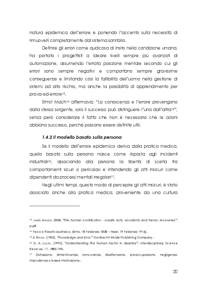 Estratto dalla tesi: Cattiva comunicazione e rischio clinico: una rassegna