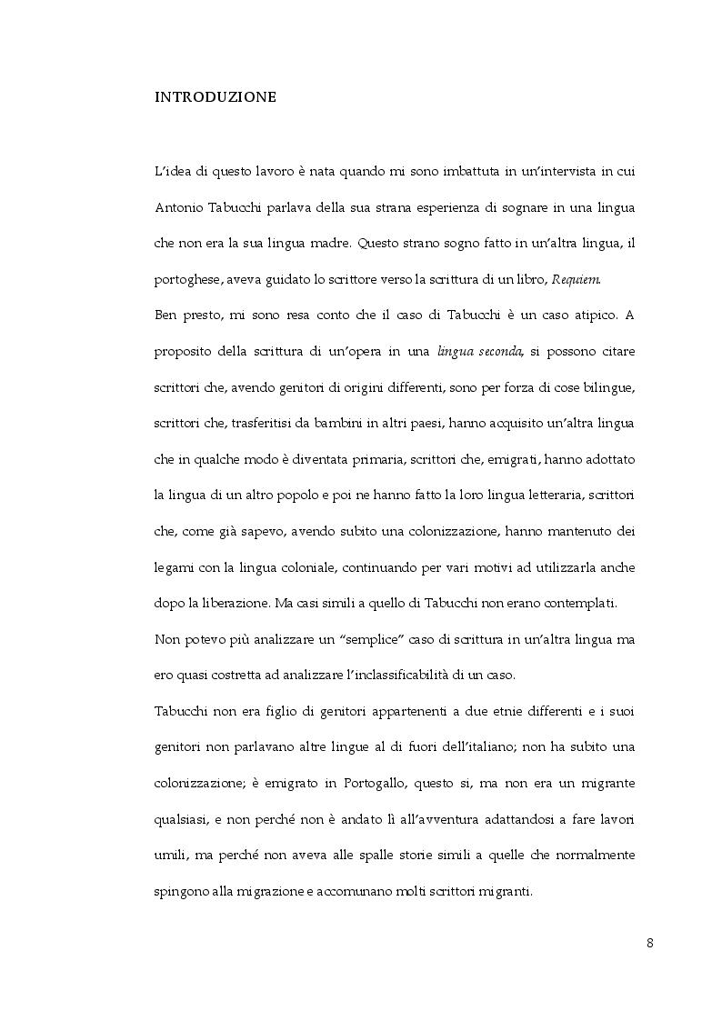 In bilico tra lingua madre e lingua seconda. Analisi e traduzione dello sdoppiamento linguistico di Antonio Tabucchi in ...