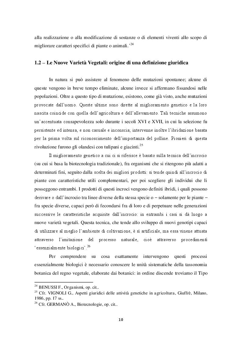 Estratto dalla tesi: Protezione della biodiversità agricola e tutela degli agricoltori dall'Hold-Up brevettuale: il caso degli OGM