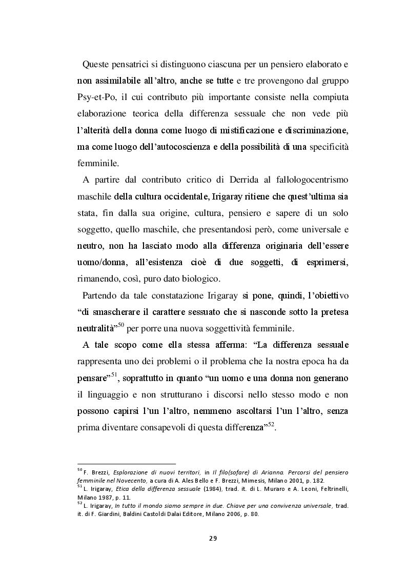 Estratto dalla tesi: Corporeità e maternità in Julia Kristeva