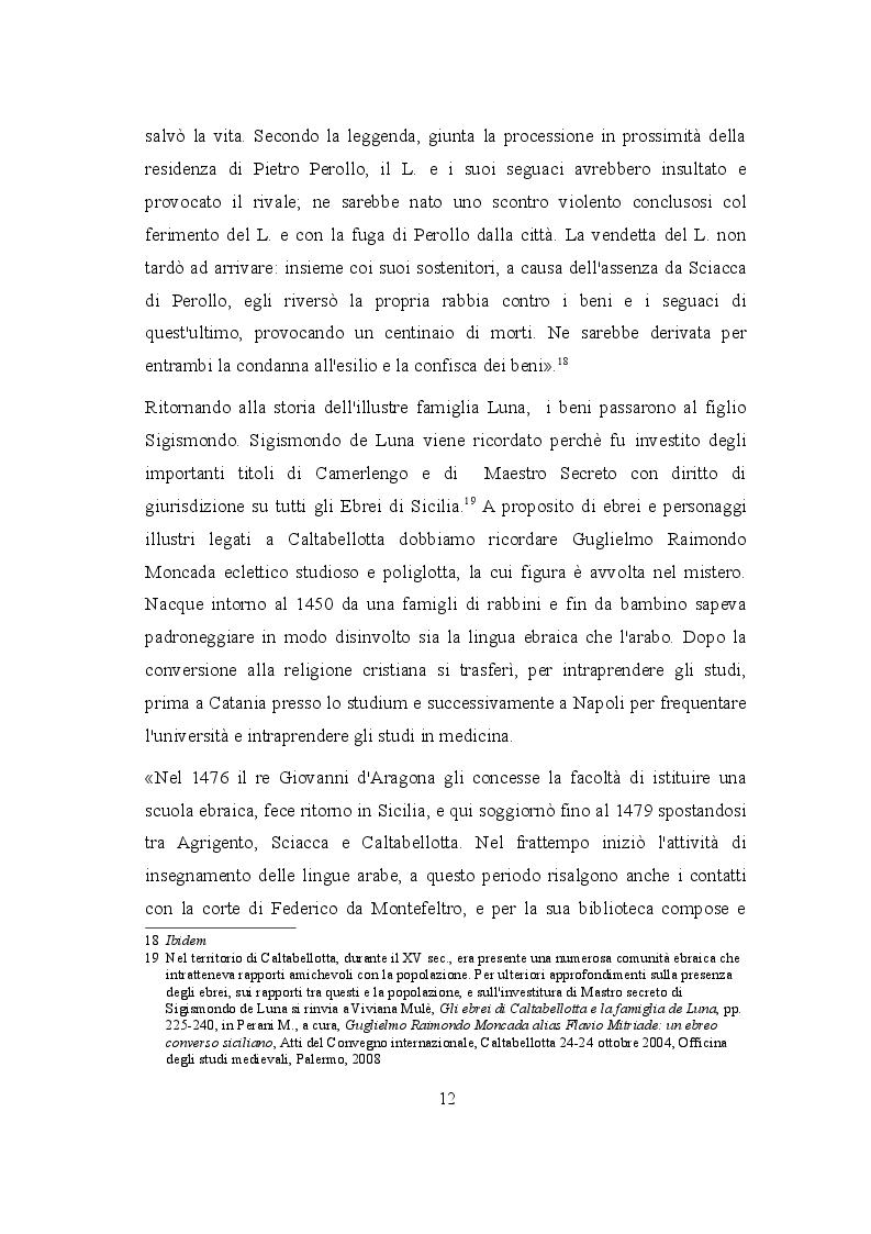 Estratto dalla tesi: La Madonna SS. Dei Miracoli di Caltabellotta