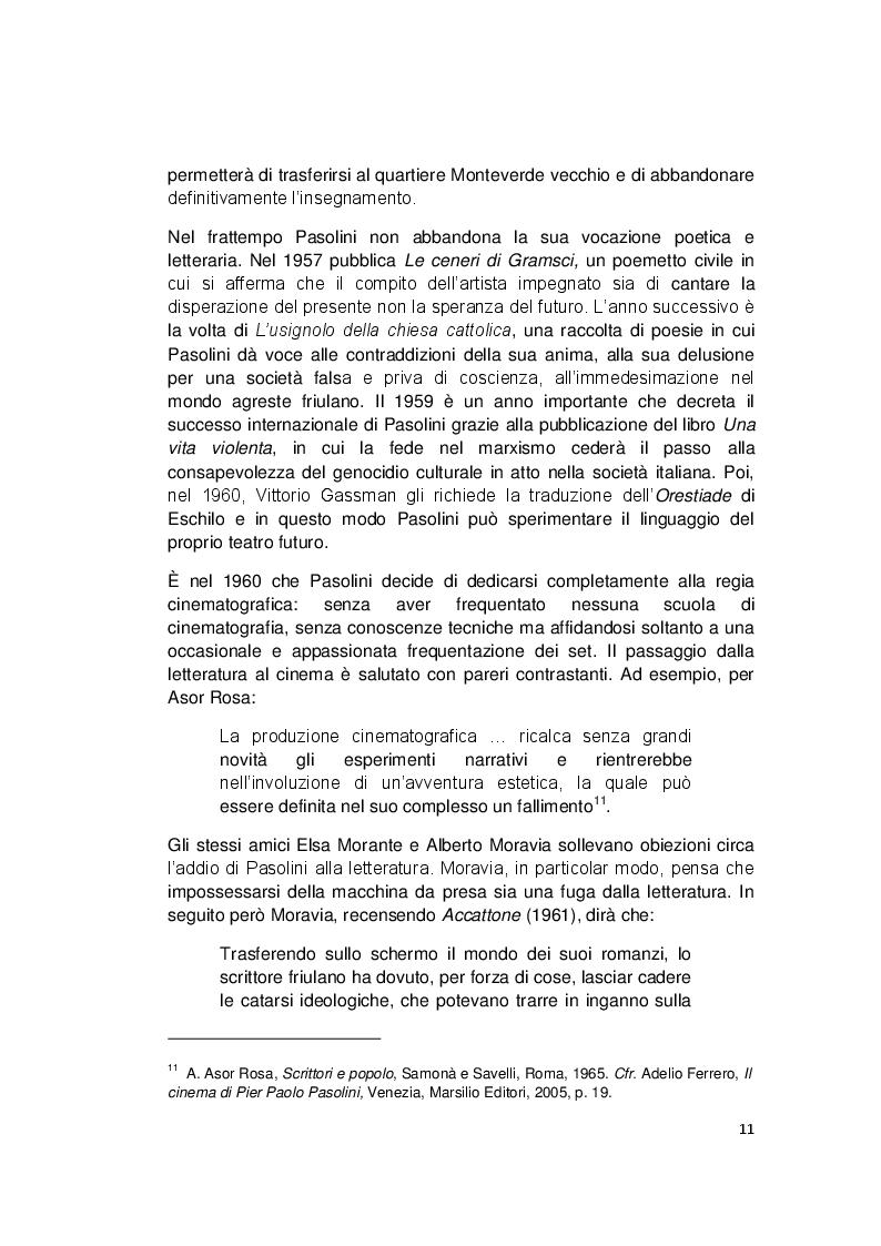 Estratto dalla tesi: La Napoli di Pier Paolo Pasolini