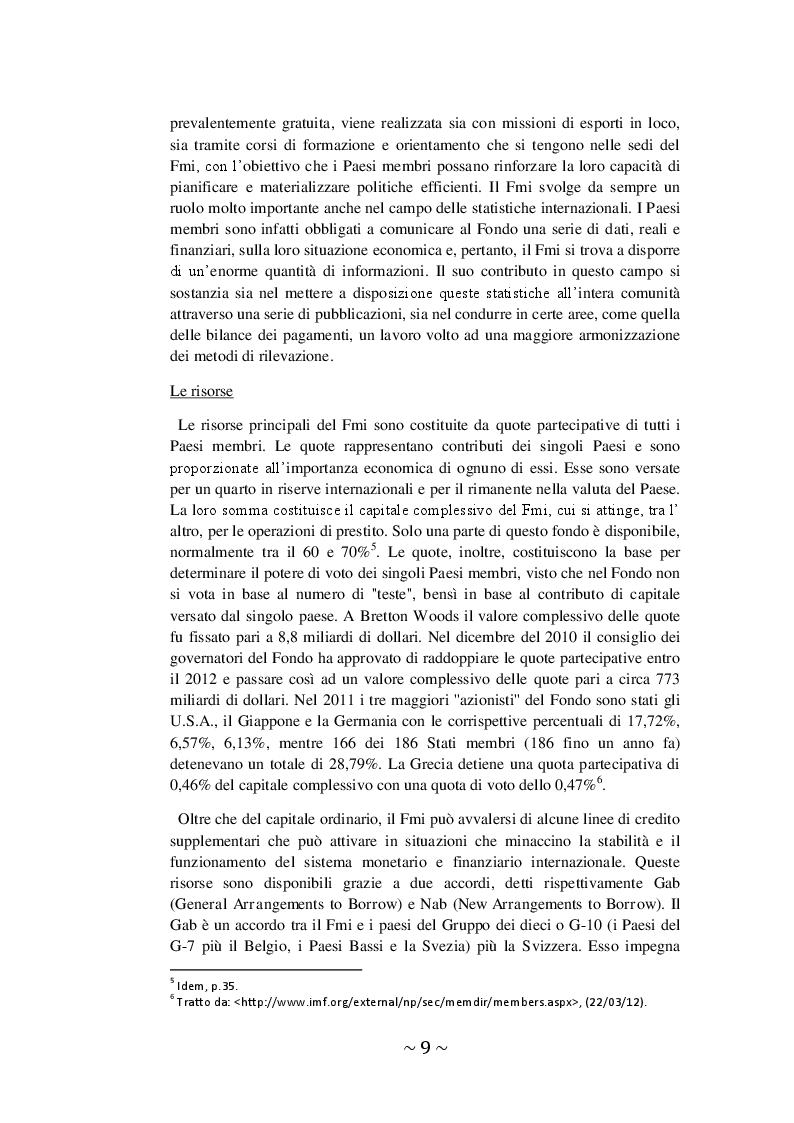 Estratto dalla tesi: L'intervento del FMI in Grecia: le ripercussioni sulla Borsa di Atene
