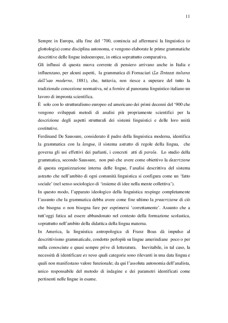 Estratto dalla tesi: Riflessione sulla lingua e 'grammatica' del testo nell'insegnamento dell'italiano L2 ad adulti