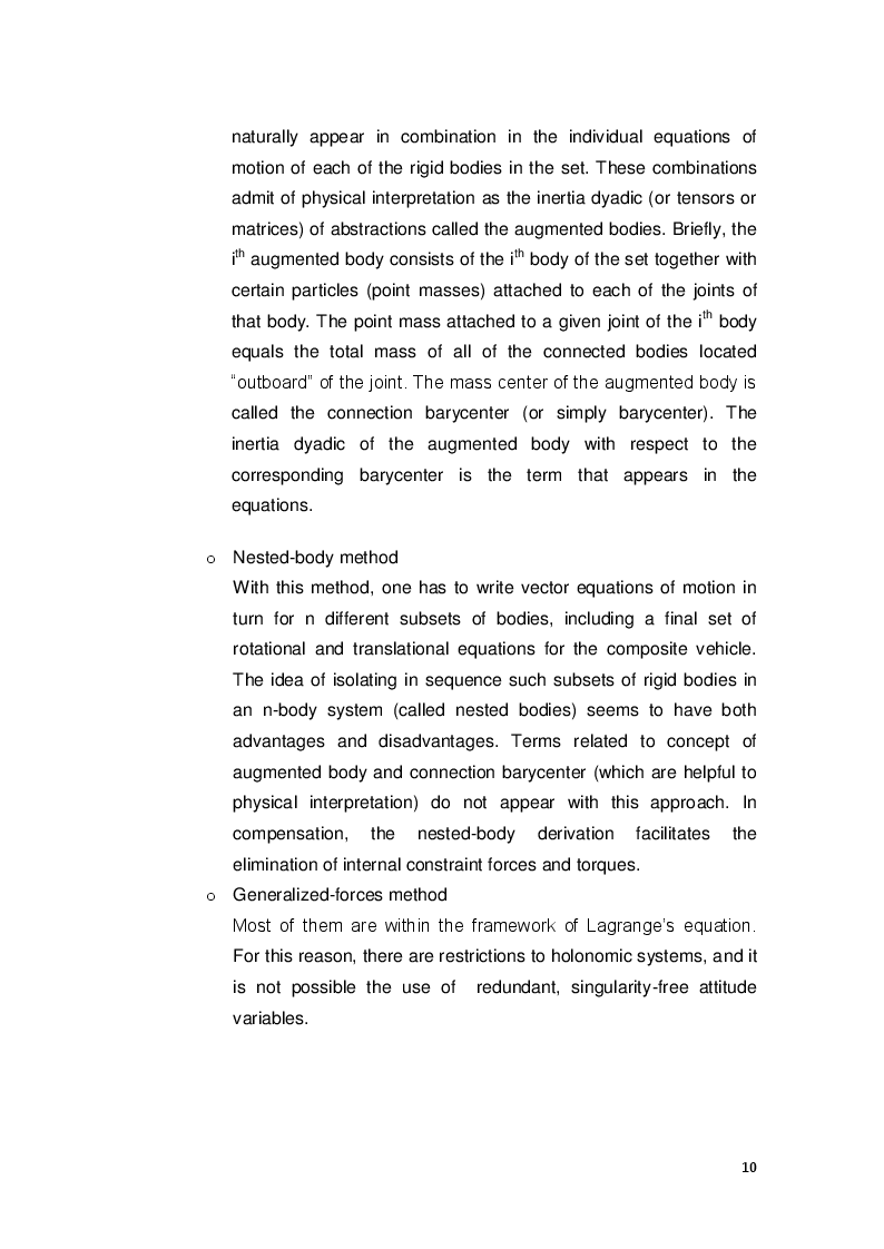 Estratto dalla tesi: Modeling and simulation of the attitude dynamics and control of a multi-module satellite