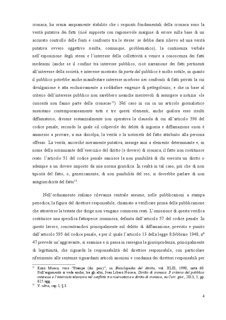 Estratto dalla tesi: La responsabilità penale del direttore responsabile nella stampa periodica: il caso Sallusti