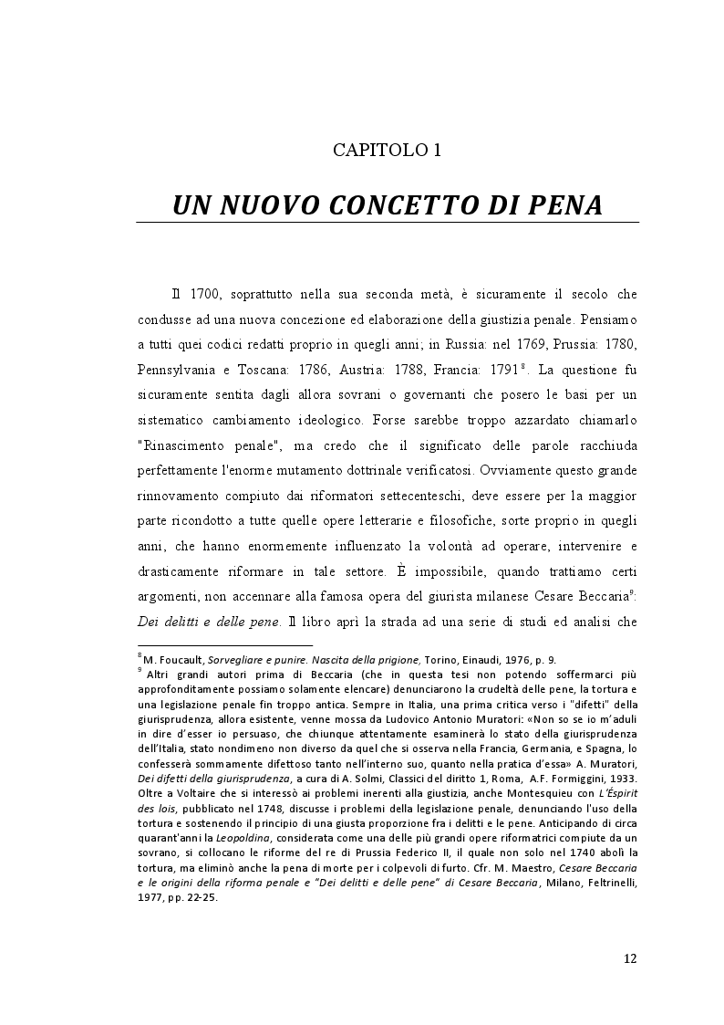 Estratto dalla tesi: La pena carceraria nella Toscana Leopoldina
