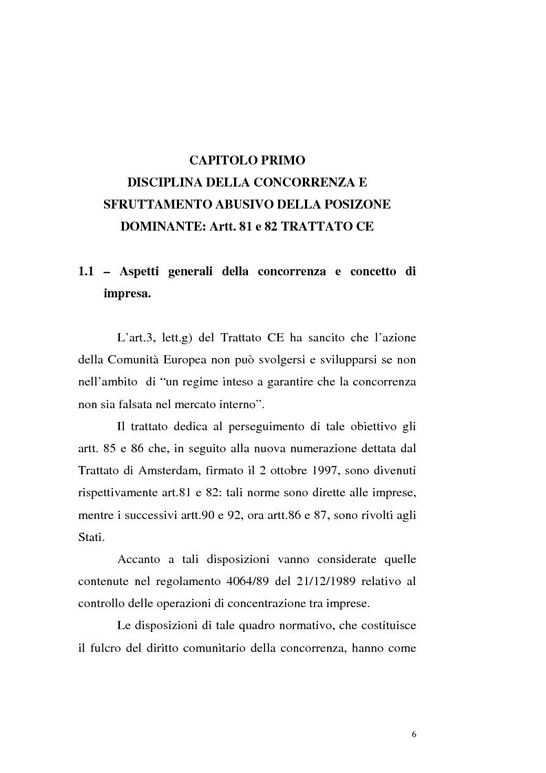 Diritto comunitario della concorrenza e alleanze strategiche nel settore delle telecomunicazioni: il caso Unisource e Un...