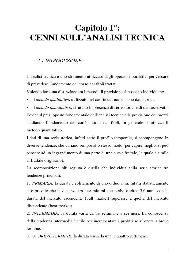 Anteprima della tesi: Teoria dei giochi ed analisi tecnica: un'applicazione ai mercati finanziari, Pagina 1