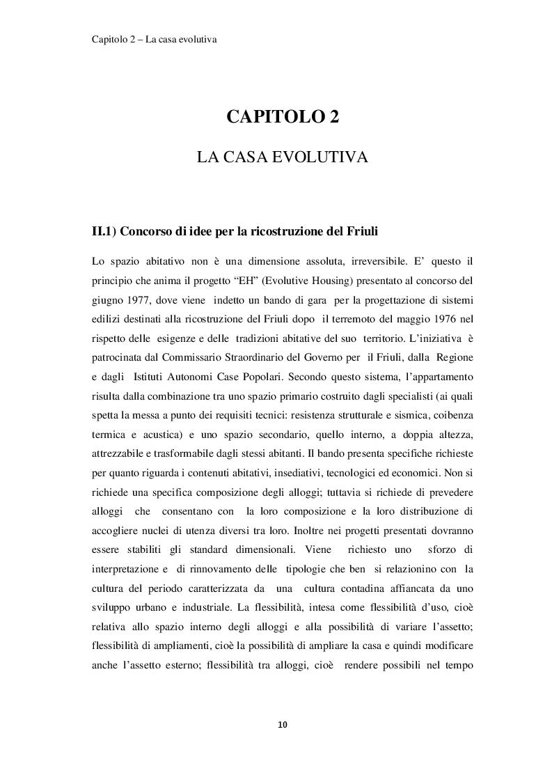 Estratto dalla tesi: Analisi Energetica ed ipotesi di ''Retrofit'' della casa evolutiva di Renzo Piano a Solomeo (Perugia)