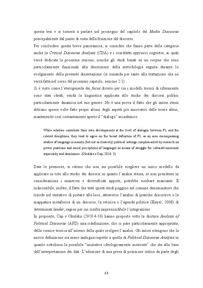 Estratto dalla tesi: Il discorso politico dei Primi Ministri israeliani. Un'analisi linguistica basata su un corpus.