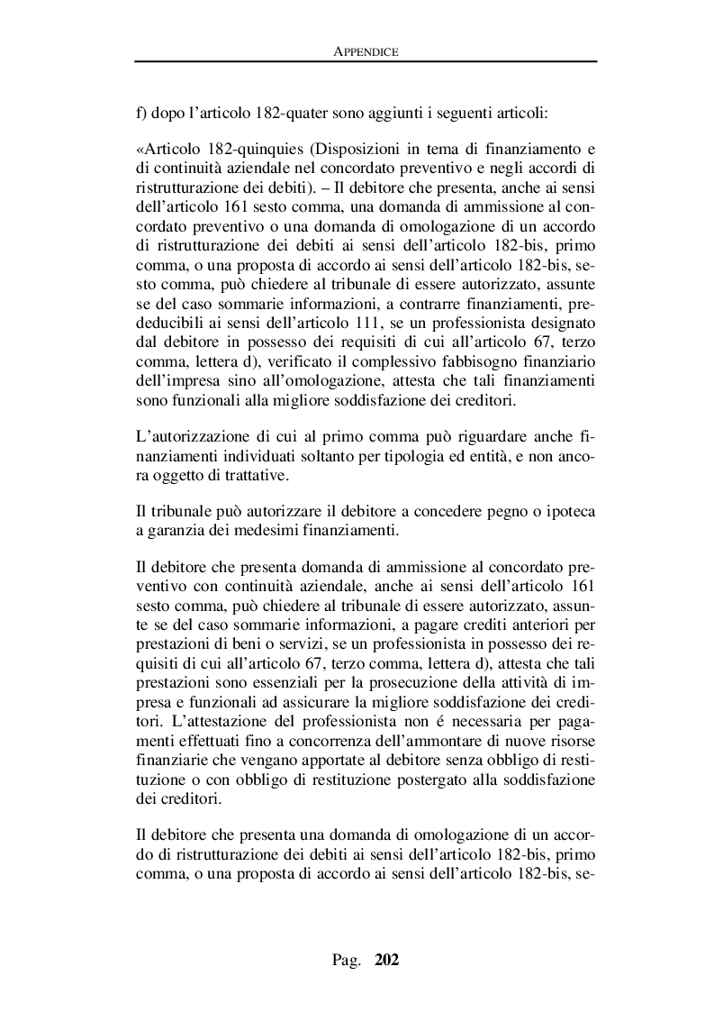 Estratto dalla tesi: Decreto crescita e procedure concordatarie della crisi