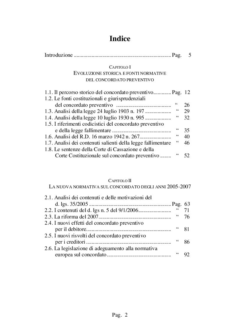 Indice della tesi: Decreto crescita e procedure concordatarie della crisi, Pagina 1