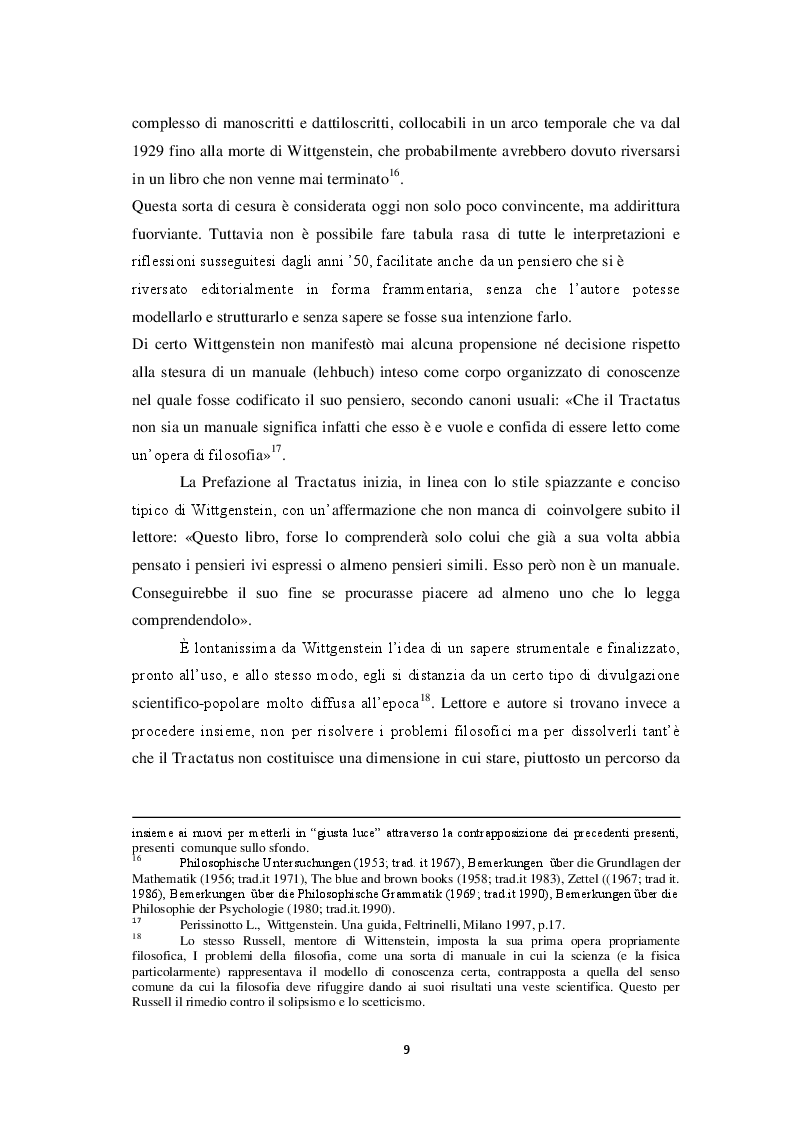Estratto dalla tesi: Intersoggettività, prassi linguistica e parola esemplare. Da Wittgenstein alla fenomenologia