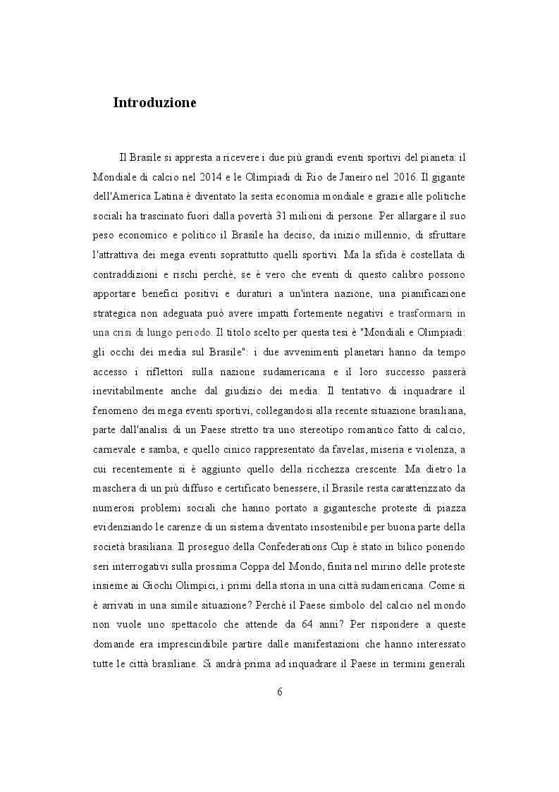 Anteprima della tesi: Mondiali e Olimpiadi: gli occhi dei media sul Brasile, Pagina 2