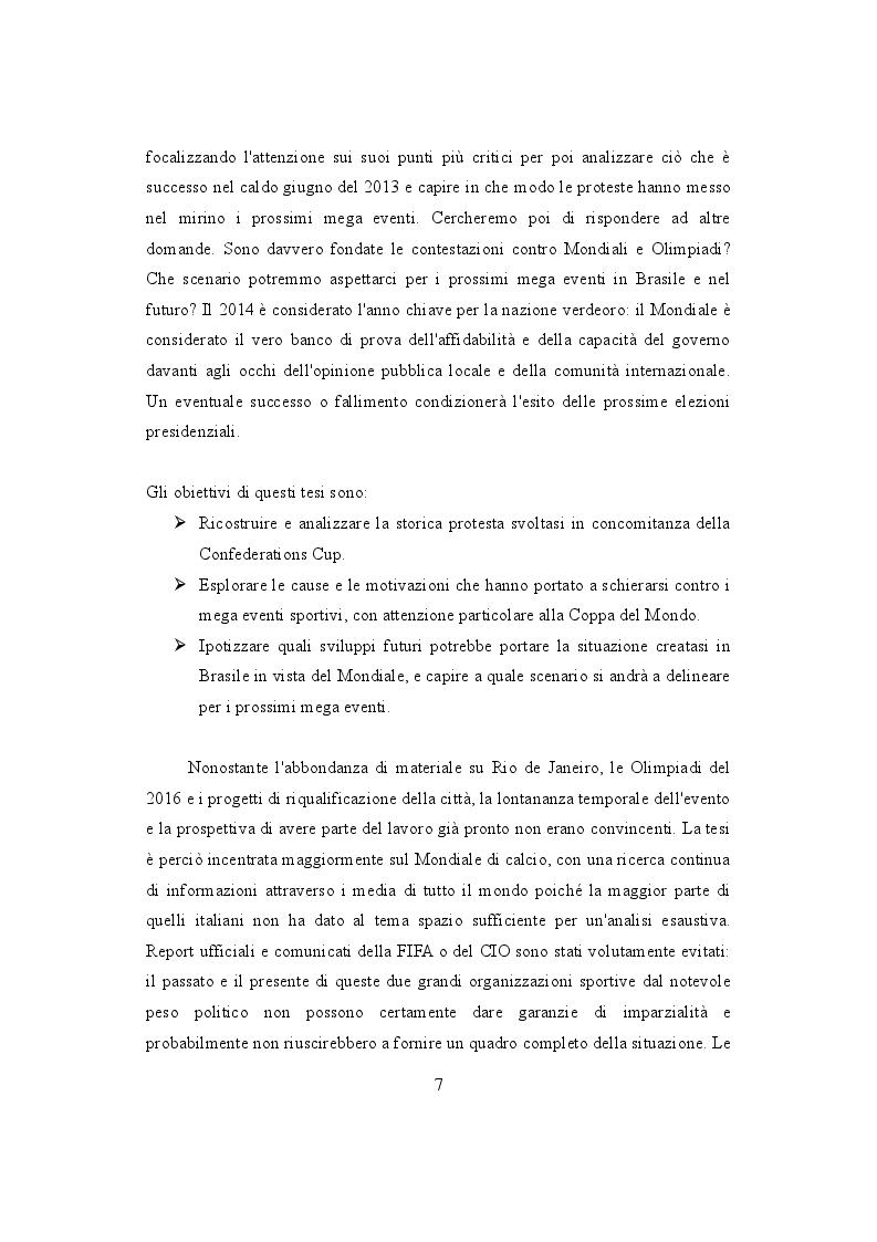 Anteprima della tesi: Mondiali e Olimpiadi: gli occhi dei media sul Brasile, Pagina 3