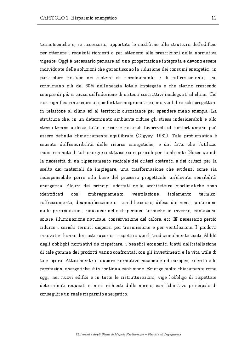 Estratto dalla tesi: Analisi delle prestazioni energetiche di un muro di Trombe