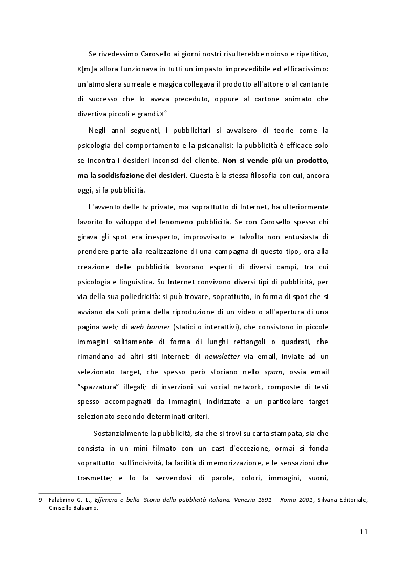 Estratto dalla tesi: L'uso persuasivo delle lingue in pubblicità