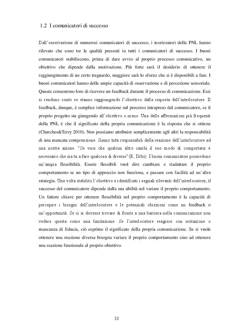 Estratto dalla tesi: Programmazione Neuro-Linguistica applicata alla didattica delle lingue straniere