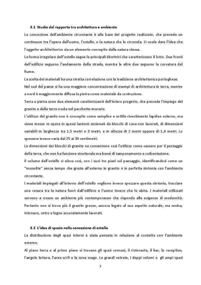 Estratto dalla tesi: Architettura in terra. Un ostello in Portogallo