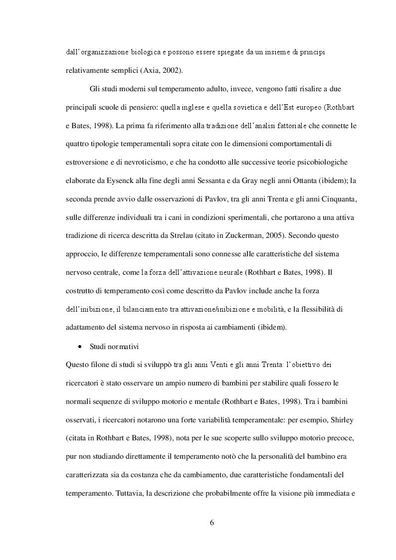 Anteprima della tesi: L' Effortful Control nei disturbi internalizzanti ed esternalizzanti, Pagina 6