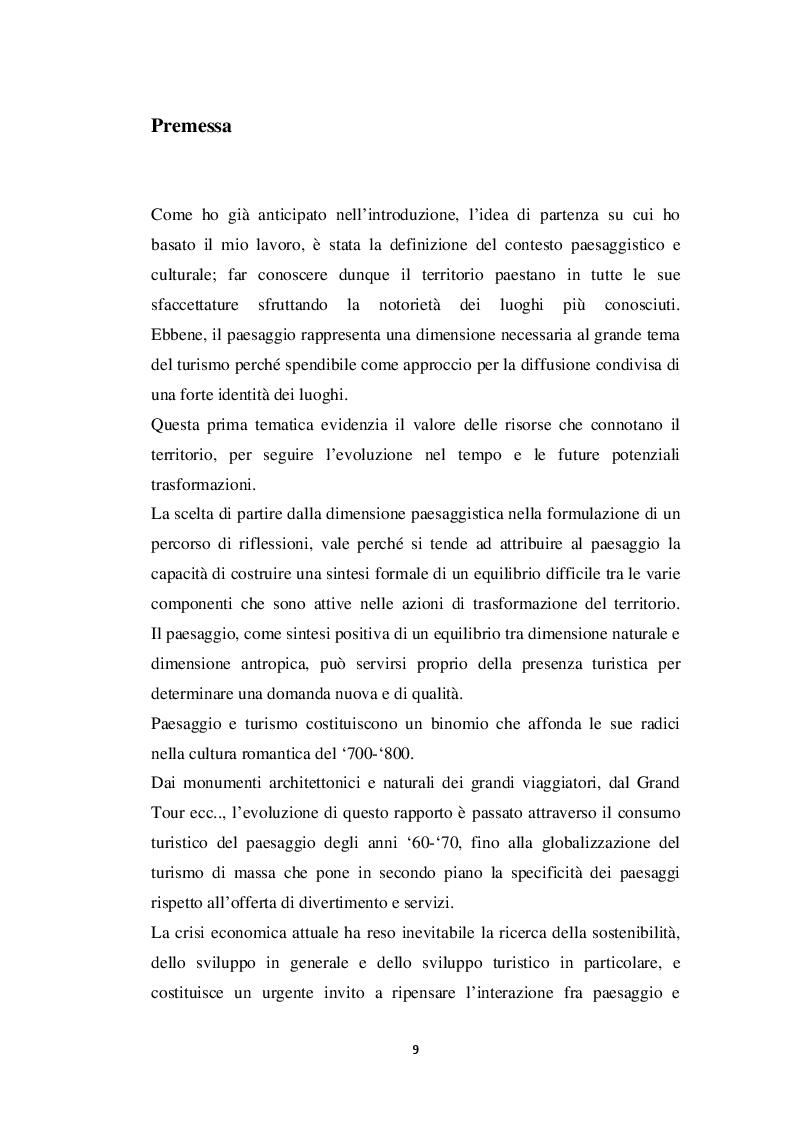 Anteprima della tesi: Per un progetto territoriale del sito archeologico di Paestum , Pagina 5