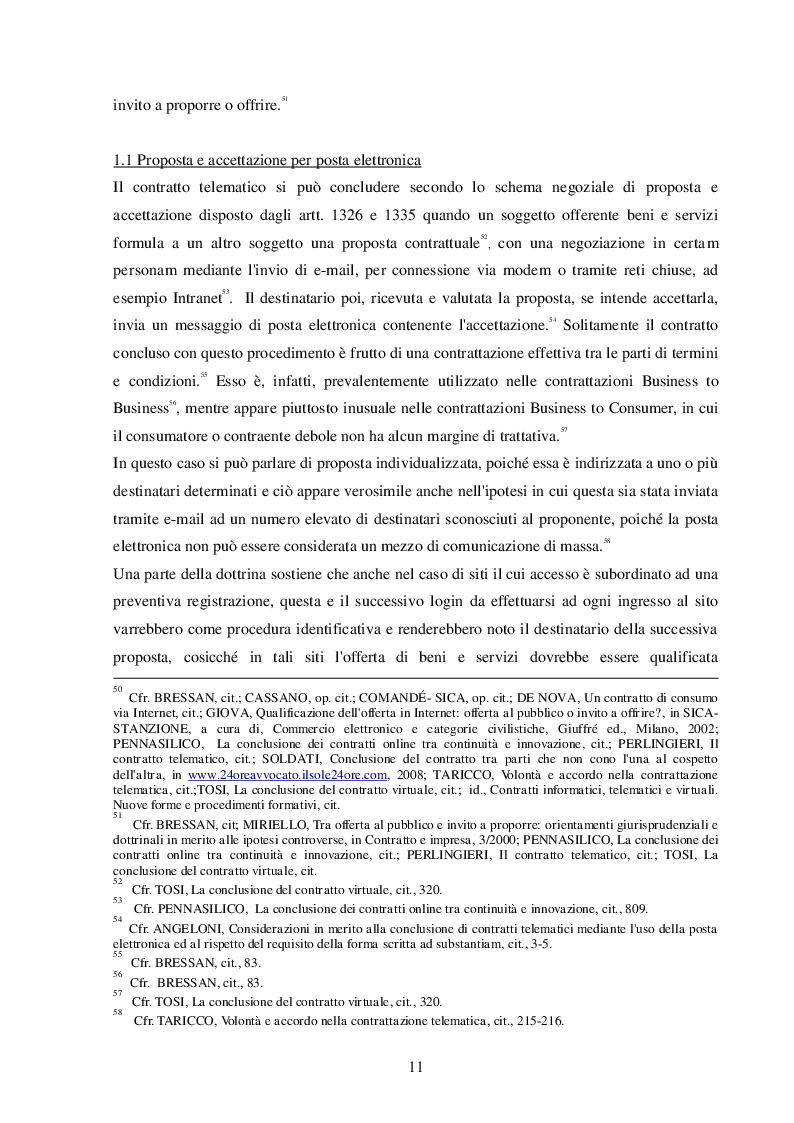 Estratto dalla tesi: Lo scenario giuridico caratterizzante il contratto telematico