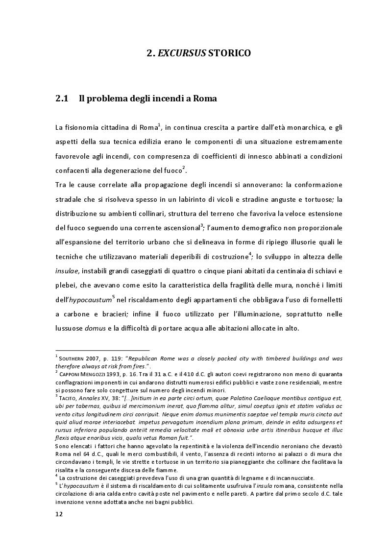 Estratto dalla tesi: Safety & security nella Roma imperiale: la guarnigione urbana dei Vigiles