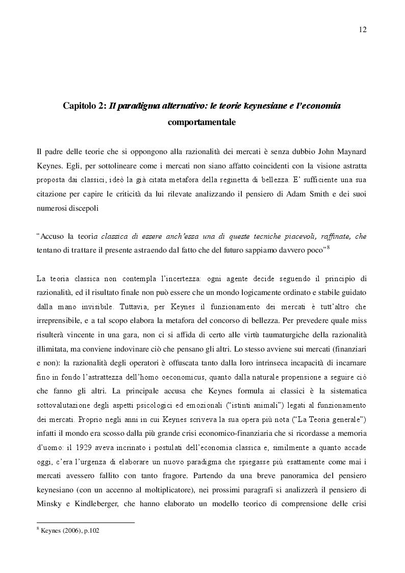 Estratto dalla tesi: Razionalità limitata dei mercati e revisione critica delle politiche di austerity dell'Eurozona