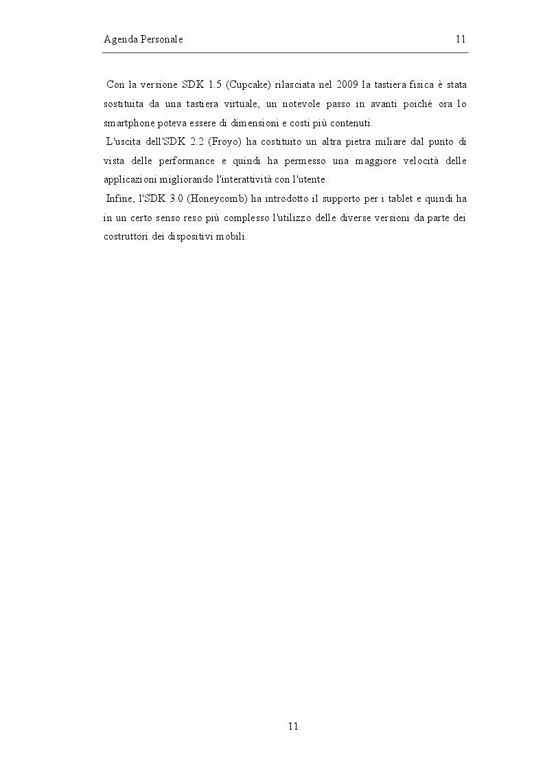 Anteprima della tesi: Sviluppo di un'agenda personale in Android, Pagina 4