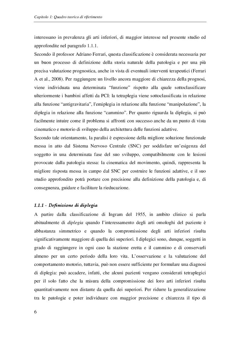 Estratto dalla tesi: Verifica sperimentale di quattro schemi motori di cammino in bambini affetti da diplegia spastica attraverso dati di Gait Analysis e statistica descrittiva