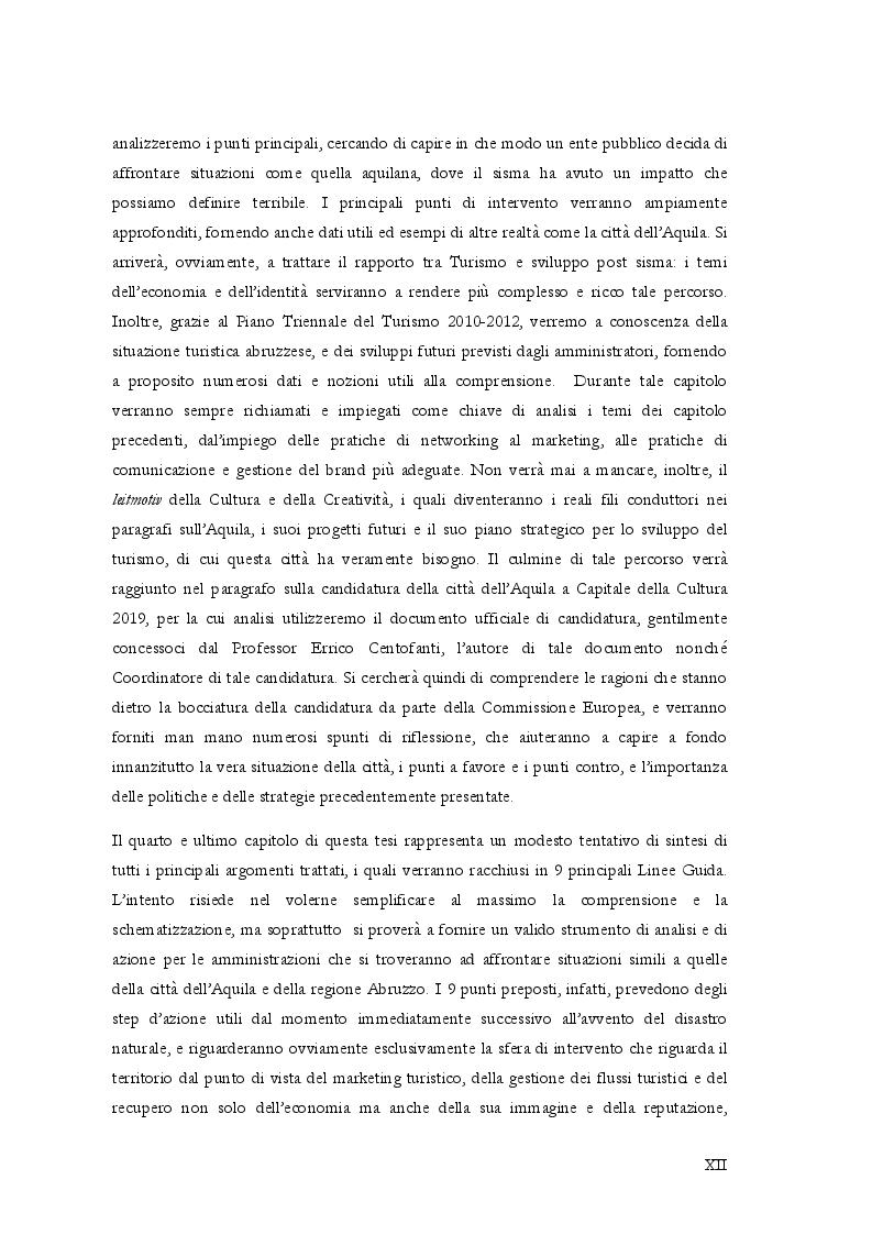 Estratto dalla tesi: Crisi post disastro naturale e fase di ricostruzione: il ruolo del Marketing Territoriale nella strategia di management degli enti locali. Il caso sisma Aquila 2009.