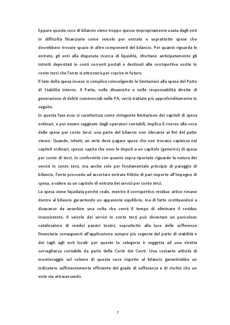 Estratto dalla tesi: Rassegna teorico-empirica sui ritardi di pagamento nella PA italiana