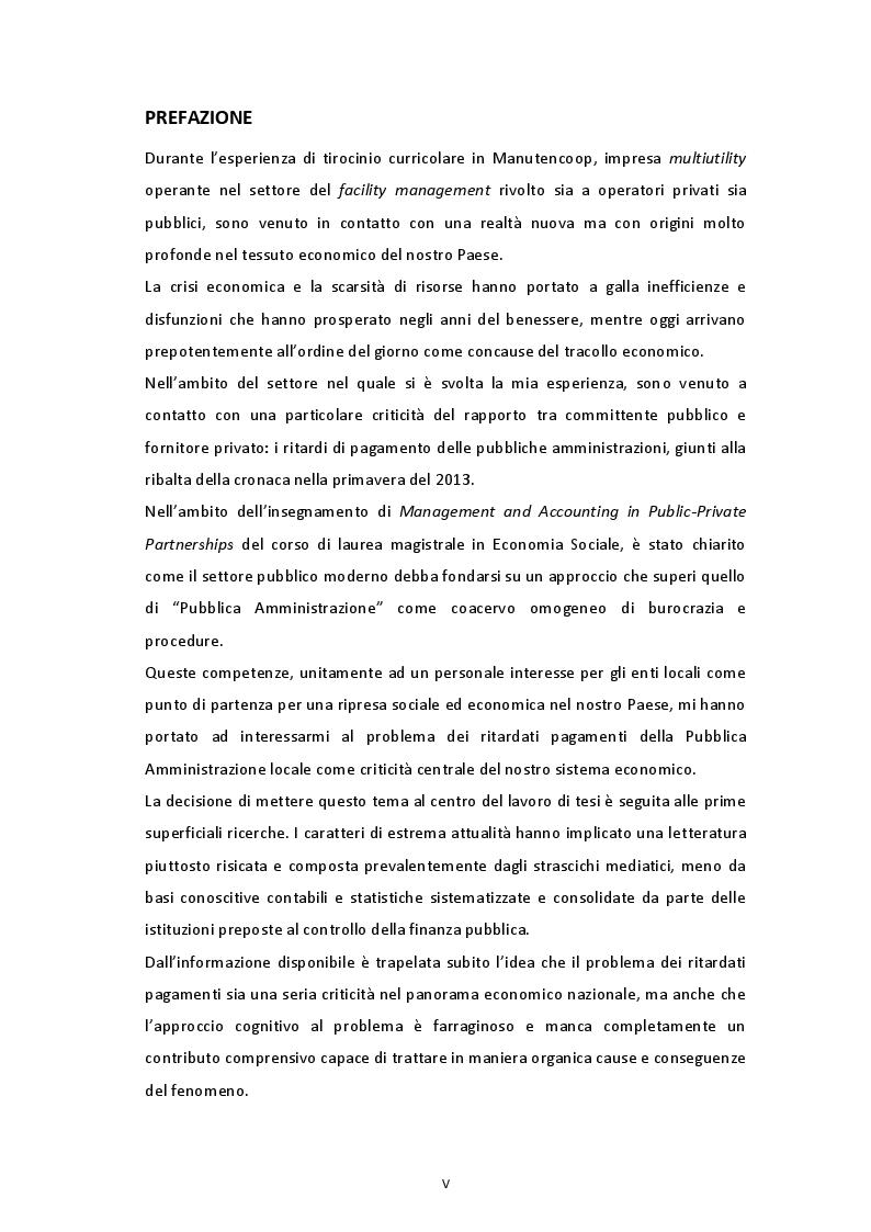 Rassegna teorico-empirica sui ritardi di pagamento nella PA italiana - Tesi di Laurea