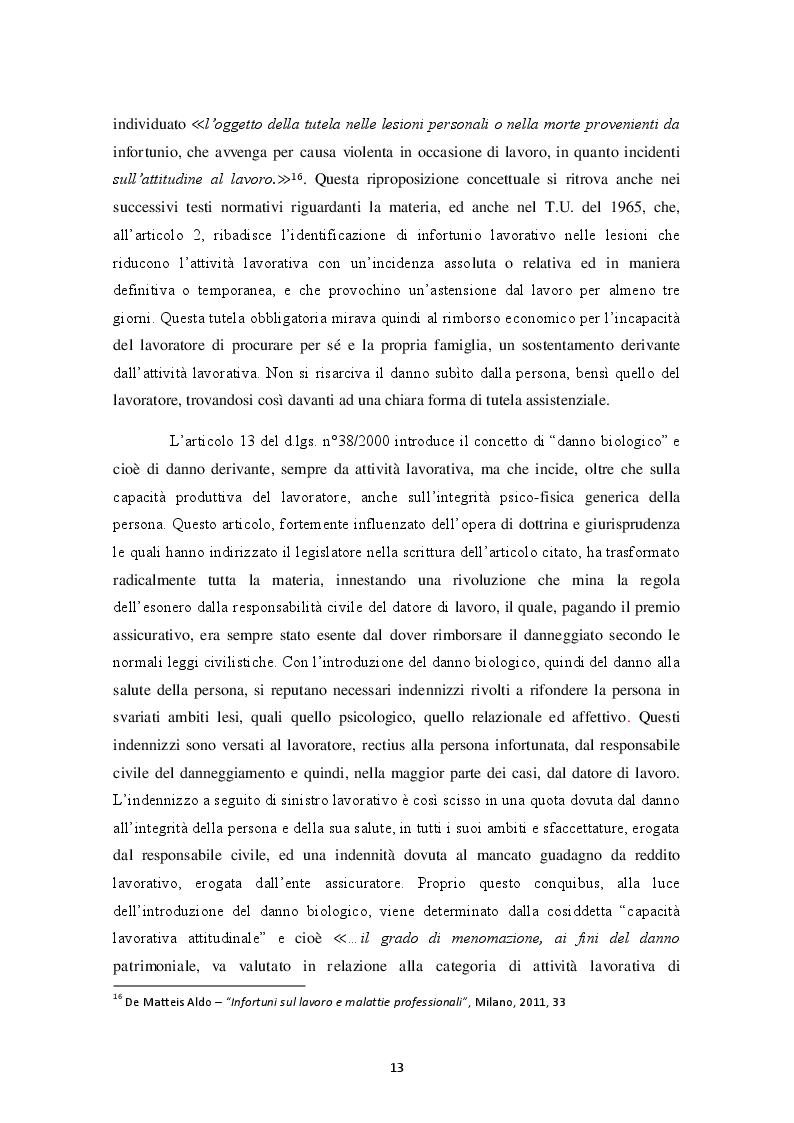 Estratto dalla tesi: Infortunio in itinere: soggetti tutelati e non tutelati